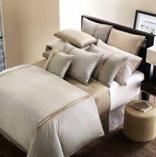 Hudson Park METRO 6 pc QUEEN Duvet Cover Shams Pillow Champagne Brown $730 New