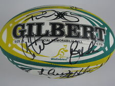 2009 Australia Wallabies Hand Signed x 23 Rugby Ball + Photo Proof