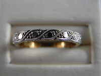 Original Old Art Deco 18ct Yellow and White Gold Ring b 62