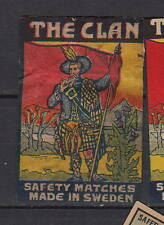 Ancienne  étiquette   allumettes Suède  AZ2287  Clan  Ecossai 4