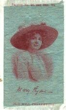 1910 Old Mill Actress Tobacco Silk Cigarettes Mary Ryan (1884-1976) light blue