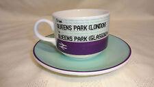 Royal Themed Train Ticket Design Cup &Saucer Queens Park(London) Queens Park