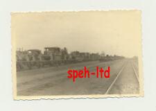 Original Foto / ..Halbketten und Kübel auf Waggons verladen im 2.Weltkrieg