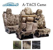 Coverking Custom Tactical Seat Covers Ballistic Canvas Front Rear - A-TACS Camo