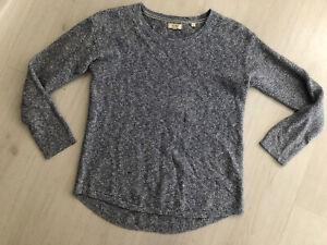 Fat Face Blue Marl Yarn Look Knit Long Sleeve Jumper Sz 10