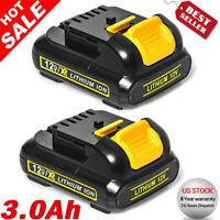 2Pack 3.0Ah 12V For DEWALT DCB120 DCB127 DCB121 12 Volt MAX 3.0 Lithium Battery