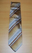 D&G Dolice & Gabbana 100% Gold Silk Tie Made In Italy NEW