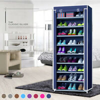 10 Layer 9 Grid Shoe Rack Shelf Storage Closet Organizer Cabinet Stand Tower