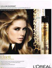 Publicité Advertising 2014 Elnett L'Oréal avec Doutzen Kroes