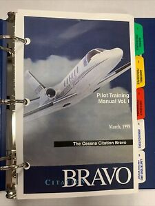 1999 FlightSafety Cessna Citation Bravo Pilot Training Manual Volume 1