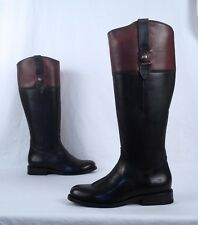 NEW!! Frye 'Jayden Button' Tall Riding Boot- Black/Brown- Size 6.5 B  $425 (B38)