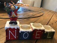 Yankee candle moose NOEL votive holder RARE NIB