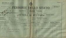 Ferrovie dello Stato Spedizione Lettera di Vettura Vino a Marchesa Pancrazi 1925