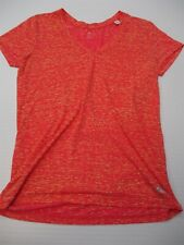 ADIDAS Shirt Woman's Size M Loose Fit Pink/Yellow