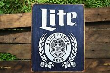Miller Lite Tin Metal Sign - Milwaukee - Pilsner Beer - Brewing Company - Retro