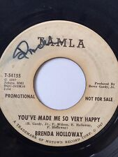 """NORTHERN SOUL PROMO 45/ BRENDA HOLLOWAY """"YOU'VE MADE ME SO VERY HAPPY""""  HEAR!"""