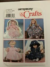 """1999 Simplicity Sewing Pattern 8960 Design You Own Doll Clothes 12""""-22"""" Uncut"""