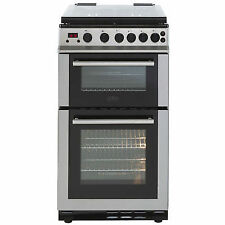 Belling FS50GDOLM 50 Cm Gas Cooker - Stainless Steel & Black (1767)
