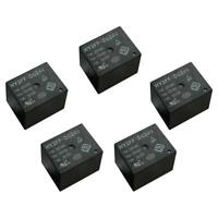 Lot 5pcs Mini Subminiature HY3FF-DC24V PCB Relay 5 Pin 10A Black