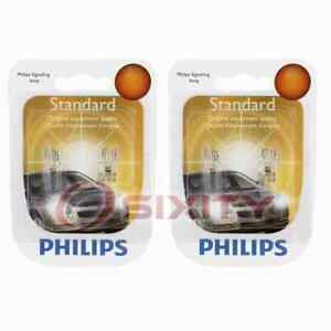 2 pc Philips Front Side Marker Light Bulbs for Jeep Liberty TJ Wrangler el