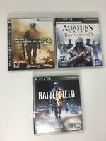 Playstation 3 Game Lot of 3 PS3 Assassins Creed Battlefield CoD Call of Duty