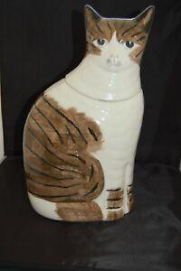 N S GUSTIN TABBY CAT COOKIE JAR