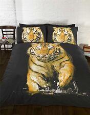 tigre orange jaune noir blanc Housse de couette double 200cm x 200cm