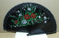 Abanico vintage Artesanía Española, pintado a mano ,42cm. madera