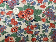 Best Vintage Feedsack Quilt Fabric 40s Dainty Red Roses Tulips Flour Full Sack
