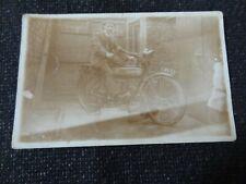 Man on Motorbike Mochram/Mochrum Dumfries Wigtownshire Private Postcard - 27857