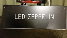 Led Zeppelin plaque for Man Cave or passionate collector 14.5 inches