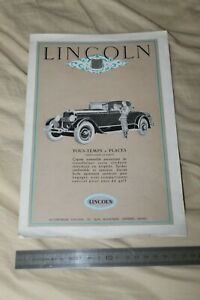 (MB2/E) Brochure Catalogue LINCOLN Ford France 1927 ?