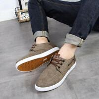 Mens Flat Canvas Shoes Outdoor Sport Casual Driving Sneakers Comfort Athletic Sz