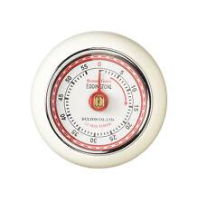 Eddingtons Magnetic Mechanical Kitchen Cook Timer Ivory Cream Retro Styling New