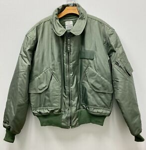 USAF GREEN NOMEX FIRE RESISTANT COLD WEATHER FLYERS JACKET CWU-45/P - XX-LARGE