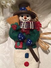 Cynthia Madrid Snowman Christmas Ornament Midwest Of Cannon Falls 5 1/2�