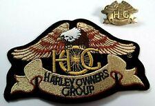 More details for harley owners group jacket patch & pin badge  harley davidson - hog - motorcycle