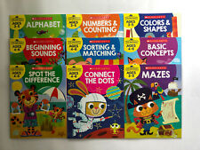 Lot 9 Scholastic Preschool Workbook Alphabet Reading Writing Math Ages 3-7