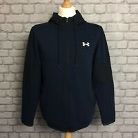 UNDER ARMOUR MENS UK M BLUE TAPE FLEECE FULL ZIP HOODED TOP HOODIE HOODY RRP £65
