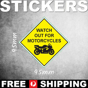 Watch Out For Motorcycles - Vinyl Bumper Sticker - PS00433