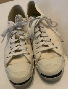 Vintage Jack Purcell Converse MADE IN USA Cream Canvas Sz 9 S