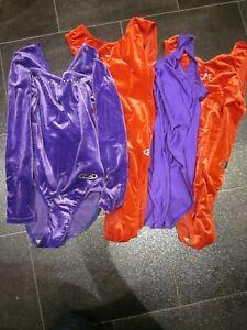 4 x leotard bundle high leg gymnastics spandex lycra job lot dance CD swimsuit ?