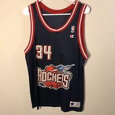 Vtg Hakeem Olajuwon  34 Houston Rockets NBA Champion Jersey sz 44 Vintage  90s 1d039a485