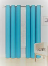 2 PANELS GROMMET HEAVY THICK UNLINED 100% THERMAL BLACKOUT WINDOW CURTAIN K68