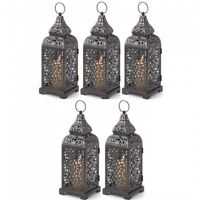 """Lot 15 Intricate Cutout 10.2/"""" SMALL Black Lantern Candle holder Centerpieces"""