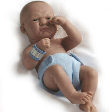 "18500 LA NEWBORN 14"" VINYL BERENGUER REAL BOY-FIRST DAY-Baby Doll NEW Blue BNIB"