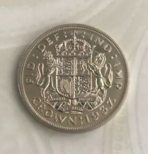 More details for 1937 silver proof crown george vi (.500) 28.28g ⌀38.61mm km# 857, sp# 4078/9