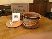 Longaberger Collectors Club 2001 Sewing Circle Basket Combo With Lid,New!