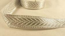 2.3cm- 2 metre Beautiful Silver lace trim ribbon for crafting dress designing