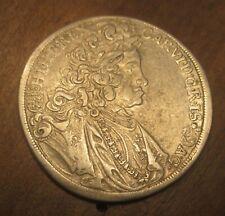 Silber Halbtaler 1716 Münze Karl VI RDR Österreich Habsburg KB SELTEN !!!